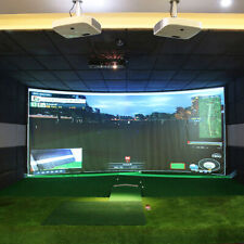 "1PC Golf Ball Simulator Impact Display Projection Zebra Screen Indoor 118""X79"""