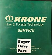 Krone Hay Amp Forage Technology Service Manual Includes Balers Rakes Disc Mowers