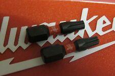 MILWAUKEE SHOCKWAVE 25MM TORX T20 X 2  IMPACT TORSION ZONE SCREWDRIVER BITS