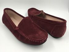 ZAPATO BURGUNDY SUEDE MOCCASIN SHOES SIZE UK 5 EU 38