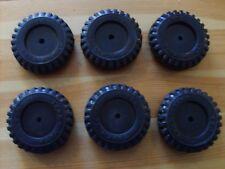 press steel toys, 6 PREMIUM RUBBER TONKA TOY BLACK-WALL SCRIPT TIRES