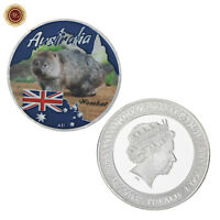 WR Tuvalu 1$ Australia Wild Animal Wombat Silver Collectors Coin Gifts Kid Boys