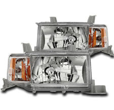 2004 2005 2006 SCION XB WAGON 5DR CHROME SET AMBER CORNER CRYSTAL HEADLIGHT LAMP