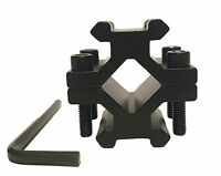 20mm 21mm Double Weaver Rail Mount Barrel Scope Attachment Rifle Laser Torch