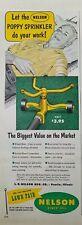 1952 Nelson lawn Fair vintage water poppy sprinkler ad