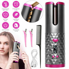 USB Cordless Automatic Rotating Hair Curler Hair Waver Curling Iron Styling Tool