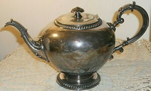 "ANTIQUE BAROQUE SILVER PLATED REED & BARTON TEAPOT  VICTORIAN 11"" TEA POT"