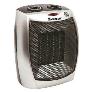 ToolTech 100065 Ceramic Heater with Adjustable Thermostat