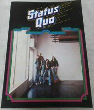 Status Quo JAPAN TOUR Program Book