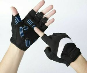 Cycling Bicycle Sport Half Finger Unisex Gloves Suede Anti-Static Washable Glove