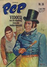 PEP 1968 nr. 36 - VIDOCQ (COVER HANS G. KRESSE) / JACKY STEWART (POSTER) /COMICS