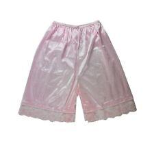 PTP04 Pink New Nylon Slips Underwear Lingerie Lace Ladies Women Men Knickers