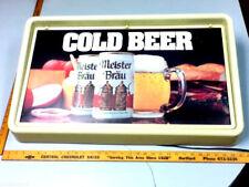 Meister Brau beer sign lighted big old vintage wall bar light Masters brewing
