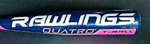 "RAWLINGS QUATRO Official T-Ball Bat -13 TBBQD 25"" Length 12oz  2 1/4"" Round"