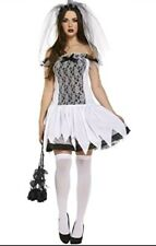 HALLOWEEN ADULT SEXY TEEN BRIDE CORPSE FANCYDRESS COSTUME OUTFIT FREE UK P&P
