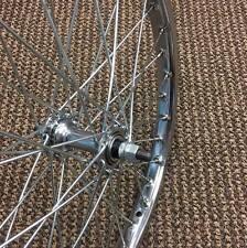 BMX BICYCLE FRONT WHEEL 20 x 1.75 - 1.95 CHROME FITS MANY BIKE 20 x 2.125