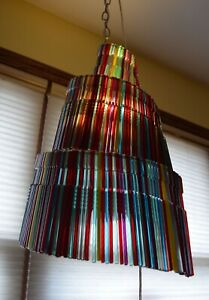 Found Art Pendant Chandelier Lamp Industrial Recycle One of a Kind Unique LED