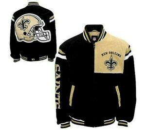 New Orleans Saints NFL Leather Jacket NWT