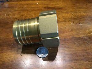 large brass barb threaded hose adapter 2 inch hose x 2 NPSH  straight thread