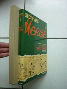 HERGE / LES ARCHIVES  HERGE 2 QUICK ET FLUPKE  1978  / JACQUETTE + ETUI CARTON