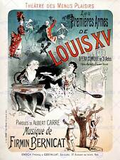 THEATRE STAGE PLAY LOUIS XV COMEDY PARIS FRANCE VINTAGE ADVERT POSTER ART 2184PY
