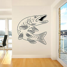 PIKE FISH SEA FRESH WATER LAKE RIVER FISHING vinyl wall art sticker decal