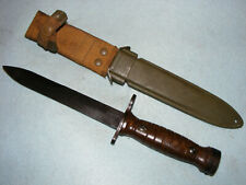 Italian M1 carbine bayonet knife with M8 scabbard Torino Aet 1959 excellent
