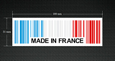 2 X Hecho En Francia Etiquetas/Pegatinas de código de barras con un fondo blanco-euro-DUB