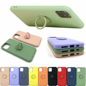Liquid Silicone Ring Holder Case For Samsung Galaxy S20 FE S21 Plus Ultra Cover