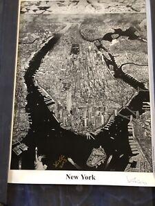 Krikko Obbott New York Manhattan Poster Print 2003 Hand Signed 25x33 Inches