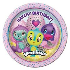 HATCHIMALS SMALL PAPER PLATES (8) ~ Birthday Party Supplies Cake Dessert Toys