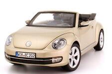 VW NEW BEETLE 2012 CABRIOLET MOON ROCK SILVER METAL KYOSHO 5C3099302P7W 1/18
