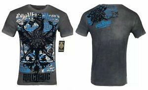 ARCHAIC by AFFLICTION Men's T-Shirt EASTON Gray Eagle Biker S-4XL $40 NWT