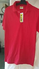 RTY WORKWEAR RED POLO T SHIRT NEW WITH TAGS SIZE SMALL 36 CHEST