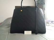 Louis Vuitton Montaigne Empreinte Leather GM Handbag Monogram Black