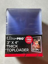 25 Ultra Pro 3x4 100pt Super Thick Toploader Holder for Thicker Jersey Cards NEW
