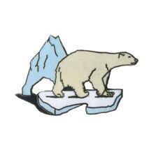 Pin's  Ours polaire sur morceau de glace Démons et Merveilles