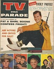 MUSIC LEGEND PAT BOONE SIGNED 1958 MAGAZINE AIN'T THAT A SHAME MOODY RIVER SHOW