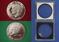1976-S Proof 40% Silver Eisenhower Ike Dollar With 2x2 Case Flat Rate Shipping