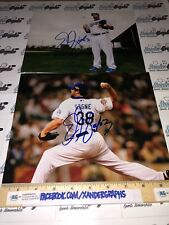"ERIC GAGNE ""CY YOUNG"" INSC SIGNED LOT (2) 8X10 PHOTOGRAPHS LOS ANGELES DODGERS"