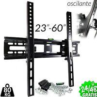 "SOPORTE de TV MONITOR 23"" A 60"" PARED LCD LED PLASMA 80KG VESA 400x400mm BRACKET"