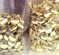 100 Pack of Brass Plate LARGE DOUBLE CAP RIVETS 1375-11 Tandy Leather Rivet