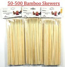 bamboo skewers Wooden BBQ Sticks Kebab fondue Grill Heavy Duty 8'' 50-500 pack