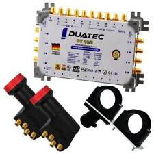 Duatec Multischalter 9/8 Switch FULL HD 3D 4K UHD 8 Teilnehmer 2xLNB Multifeed