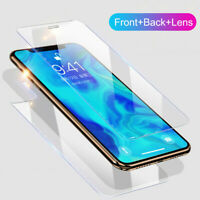 For iPhone 11 Pro Max 9H Front+Back+Camera Lens Tempered Glass Screen Protector