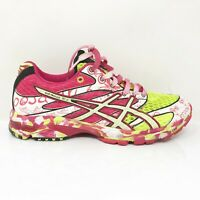 Asics Womens Gel Noosa Tri 6 T163N Pink White Running Shoes Lace Up Size 8.5