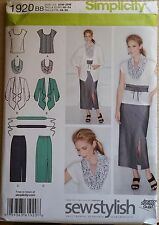 Simplicity Pattern 1920 sizes 20W-28W Women's Skirt, Top, jacket, Scarf and Belt