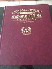 Arsenal FC Newspaper Headline Book. New. Beautiful