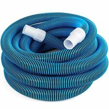 "Swimming Pool Deluxe 30FT No Kinks Vacuum Hose w/ Swivel Cuff 1 1/2"" Diameter"