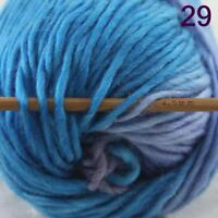 Sale Lot of 1 Skein New Knitting Yarn Chunky  Colorful Hand Wool Wrap Scarves 29